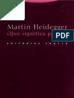 ¿Que-significa-pensar---Martin-Heidegger