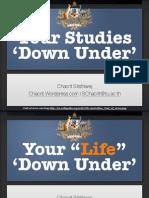 Your Studies 'Down Under'