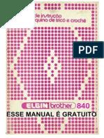 MANUAL GRATUITO DA MÁQUINA DE TRICO ELGIN-BROTHER 840