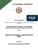 Scheme & Syllabus of MBA