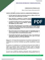 Pobreza 2012_comunicado de Prensa_Coneval