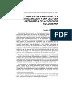 González, Fernán (2002). ... lectura geopolítica de la violencia colombiana