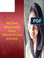 My Class Observation Diary