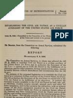 CAP Established as USAF Auxiliary - 15 Apr 1948