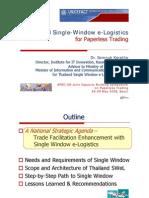 3-5_Thailand_20080526 - Thailand Single Window E-Logistics - Seoul v2.0