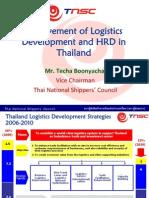 Achievement of Logistics Dev & Hrd in Thailand Techa