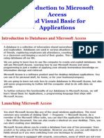 Access and VBA Tutorial