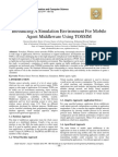 Introducing A Simulation Environment For Mobile Agent Middleware Using TOSSIM