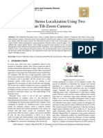Binocular Stereo Localization Using Two Pan-Tilt-Zoom Cameras