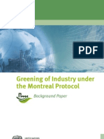 Greening of Industry Under the Montreal Protocol