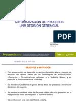 Automatizacion de Procesos Mineros