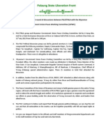Statement of PSLF in English