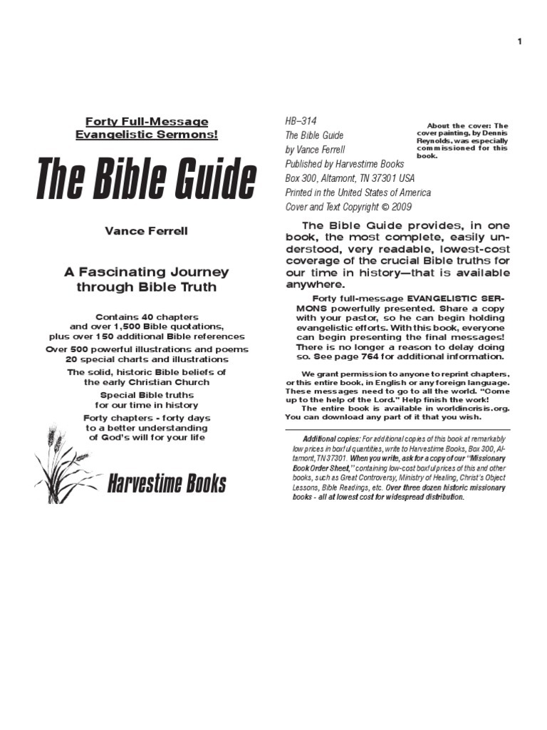 The bible guide by vance ferrell born again sin buycottarizona Choice Image