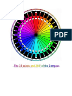 The 32 Points and 360 Degrees of the Compass