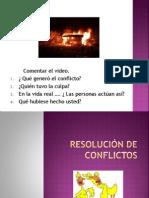 RESOLUCIÓN DE CONFLICTOS..