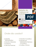 'Hidratos de Carbono na Indústria' - Trab. Bioquímica