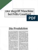 Der Begrif Der Maschine in Guattari