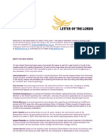 Letter of the Lords - August 2, 2013
