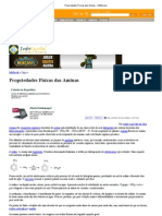 Propriedades Físicas das Aminas - InfoEscola