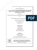 COMPARISON OF VARIOUS MEMBERSHIP FUNCTIONS IN FUZZY LOGIC FOR PREDICTING THE COMPRESSIVE  STRENGTH OF CEMENT