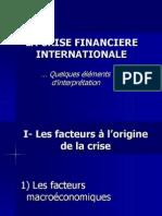 La Crise Financiere Internationale