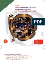 Les troubadours chantent l'art roman - Programme 2013.pdf
