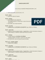 Agenda de Agosto de 2013
