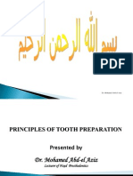 Biomechanical Principles of Tooth Preparation (Esthetic)