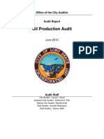 Oil Production Final Report, August 2013
