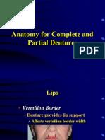 Anatomy Tour for Prosthodontics