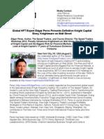 Global HFT Expert Edgar Perez Presents Definitive Knight Capital Story, Knightmare on Wall Street