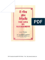 The Gita on Management