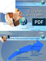 EL GERENTE EDUCATIVO COMO LÍDER