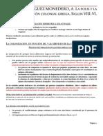 DOMINGUEZ MONEDERO, A. La polis y la expansión colonial griega. Siglos VIII-VI. Madrid, Síntesis, 1993. (Cap. 4)