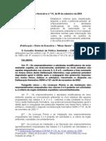 Deliberação Normativa n 74-2004