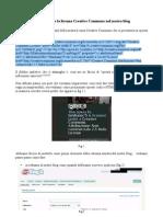 Come inserire la licenza Creative Commons nel nostro blog