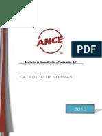 CATALOGO ANCE de Normas Mexicanas (y IEC)
