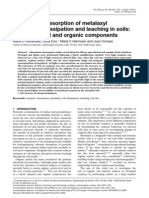 Adsorption–desorption of metalaxyl