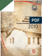 ELECCIONES MUNICIPALES - MEMORIA Y ESTADISTICAS ELECTORALES 2010 - TSJE - PORTALGUARANI