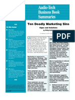 Deadly Marketing Sins