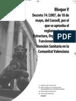 V Reglamento Atenc Sanit Valencia