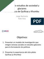 Estudios de Sociedad y Glaciares (Jorge Recharte)