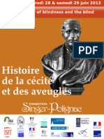 """Zina Weygand - FR - Introduction du colloque """"Histoire de la cécité et des aveugles"""""""