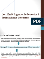 09 Leccion 9 Ingenieria de Costos 2. Estimaciones de Costos