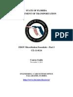 FDOTMicroStationEssentialsPart I