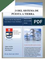 Diseño del Sistema de Puesta a Tierra SE Santa Rosa