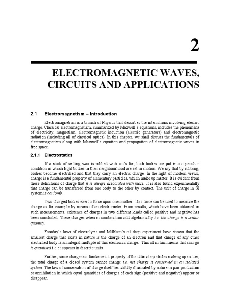 Electromagnetic waves, Circuits and Applications | Permittivity ...