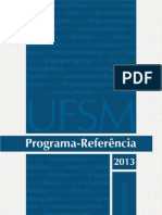 Vestibular 2013 Programa Referencia 2013