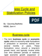 Business Cycle and Stabilisation Policy