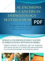 Surgical Excisions of Skin Cancers in Dermatology Settings in Serbia